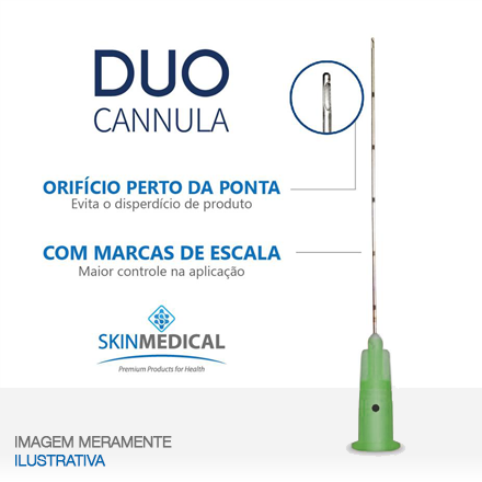 DUO CANNULA 21G×50mm + agulha de pertuito