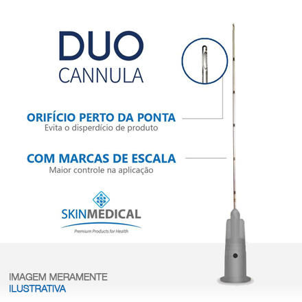 DUO CANNULA 22G×50mm + agulha de pertuito
