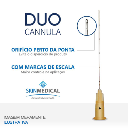 DUO CANNULA 25G×50mm + agulha de pertuito
