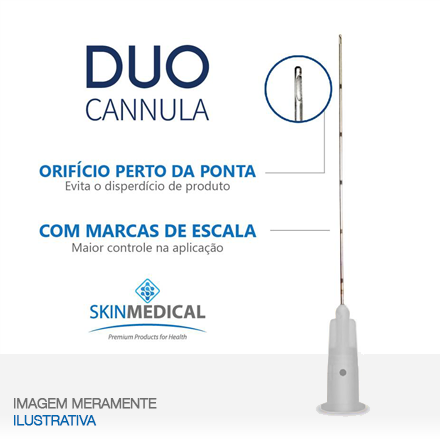 DUO CANNULA 27G×50mm + agulha de pertuito